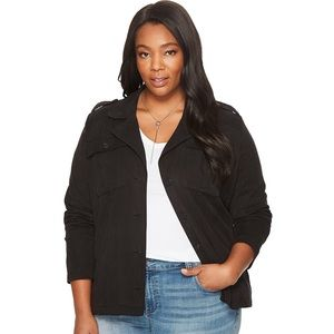 Lucky Brand Plus Size Cropped Military Jacket 2X